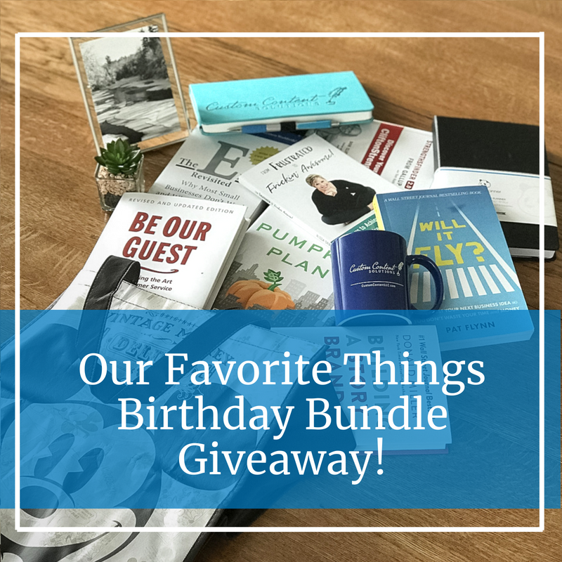 our favorite things birthday bundle giveaway of mickey mouse bag, photo, cactus, business books, journal, panda planner