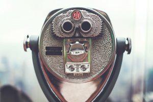 back side of tower viewer binoculars