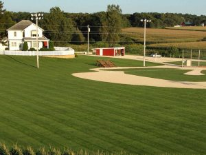baseball field and house from the movie field of dreams
