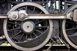 train wheels on a track