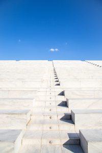 plain white steps